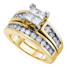 14KT Yellow Gold 1.50CTW DIAMOND INVISIBLE BRIDAL SET #56306v2