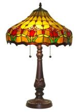 TULIPS DESIGN TIFFANY STYLE TABLE LAMP 24 INCHES TALL #99529v2