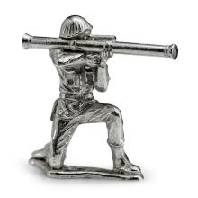 Silver Army Figurine - Stovepipe Silver Soldier #21857v3