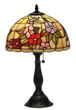 TIFFANY STYLE FLORAL TABLE LAMP 19 IN #99543v2
