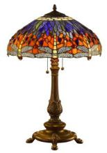 TIFFANY STYLE DRAGONFLY TABLE LAMP 26 INCHES #99539v2