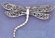 BEAUTIFUL Filigree Dragonfly Brooch #18047v3