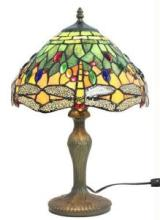 TIFFANY STYLE DRAGONFLY DESIGN TABLE LAMP 18 IN #99540v2