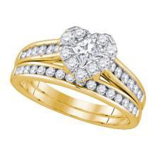 14KT Yellow Gold 1.00CTW DIAMOND 0.26CT-CPR BRIDAL SET #59847v2