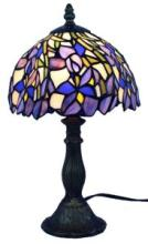 TIFFANY STYLE IRIS TABLE LAMP 15 INCHES TALL #99532v2