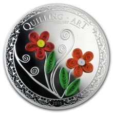 2016 Cook Islands Silver Quilling Art (Flowers) #22036v3