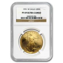 1 oz Proof Gold American Eagle PF-69 NGC (Random Year) #22601v3