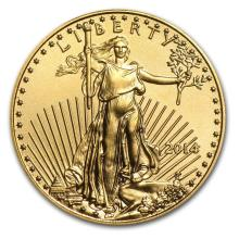 2014 1/10 oz Gold American Eagle BU #22609v3