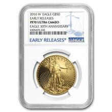 2016-W 4-Coin Proof Gold American Eagle Set PF-70 NGC (ER) #22626v3