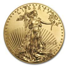 2015 1/10 oz Gold American Eagle BU #22585v3