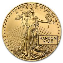 1/2 oz Gold American Eagle BU (Random Year) #22583v3