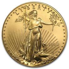 1998 1 oz Gold American Eagle BU #22628v3