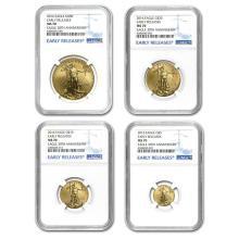 2016 4-Coin Gold American Eagle Set MS-70 NGC (ER) #22610v3