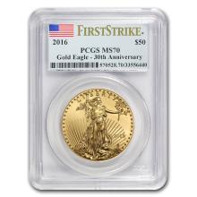 2016 1 oz Gold American Eagle MS-70 PCGS (FS) #22586v3