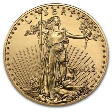2012 1/2 oz Gold American Eagle BU #22685v3