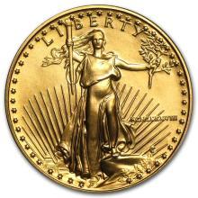 1988 1/2 oz Gold American Eagle BU (MCMLXXXVIII) #22641v3