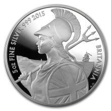 2015 Great Britain 5 oz Proof Silver Britannia #22331v3