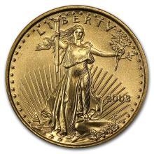 2003 1/10 oz Gold American Eagle BU #22684v3