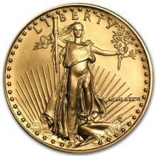 1986 1/2 oz Gold American Eagle BU (MCMLXXXVI) #22666v3