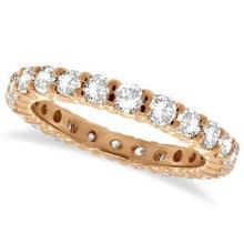 Diamond Eternity Ring Wedding Band 14k Rose Gold (1.07ctw) #51650v3
