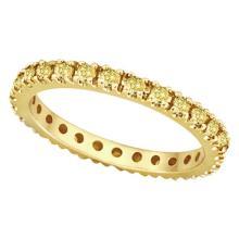 Fancy Yellow Canary Diamond Eternity Ring Band 14K Yellow Gold (0.51ct) #51531v3