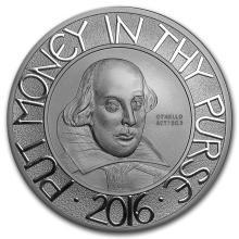 2016 Great Britain Silver 5 oz Shakespeare Proof (w/Box & COA) #22345v3