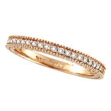Diamond Eternity Wedding Ring Band in 14K Rose Gold (0.31ctw) #51627v3