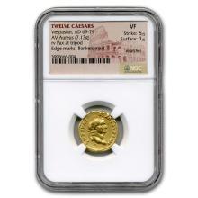 Roman Gold Aureus Emperor Vespasian (69-79 AD) VF NGC #31182v3