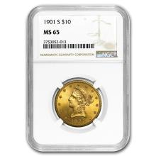 1901-S $10 Liberty Gold Eagle MS-65 NGC #31255v3