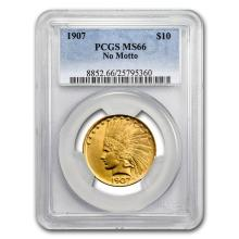 1907 $10 Indian Gold Eagle No Motto MS-66 PCGS #31306v3