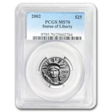 2002 1/4 oz Platinum American Eagle MS-70 PCGS #31239v3