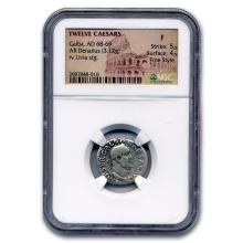 Roman Silver Denarius Emperor Galba (68-69 AD) Fine NGC #31101v3