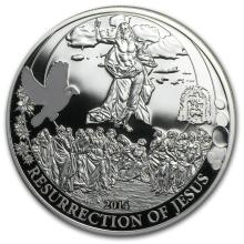 2014 Palau Proof Silver Biblical Stories Resurrection of Jesus #31087v3