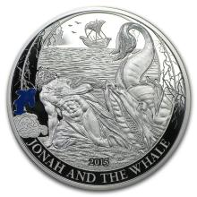 2015 Palau Proof Silver Biblical Stories Jonah and the Whale #31084v3