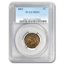 1863 Indian Head Cent MS-63 PCGS #31278v3