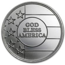 1 oz Silver Round - God Bless America #21676v3