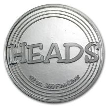 1/2 oz Silver Round - Heads or Tails Novelty #21688v3