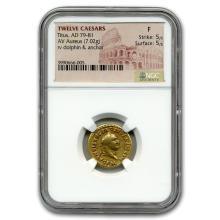 Roman Gold Aureus Emperor Titus (79-81 AD) Fine NGC #31107v3