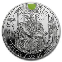 2016 Palau Proof Silver Biblical Stories (Crucifixion of Jesus) #31085v3
