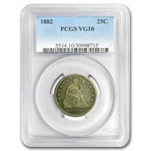 1882 Liberty Seated Quarter VG-10 PCGS #31295v3