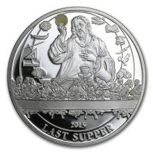 2015 Palau Proof Silver Biblical Stories Last Supper #31086v3