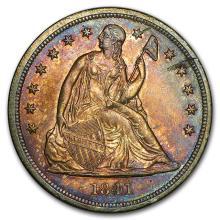 1841 Liberty Seated Dollar AU Details #31218v3