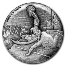 2 oz Silver Coin - Biblical Series (David & Goliath) #31082v3