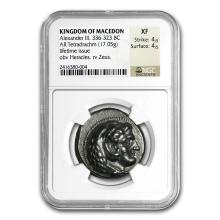 Macedonia Silver Tetradrachm Alexander III (336-323 BC) XF NGC #31095v3