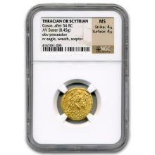 Thracian/Scythian Gold Stater (after 54 BC) MS NGC #31090v3
