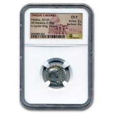 Roman Silver Denarius Emperor Vitellius (69 AD) CH Fine NGC #31102v3