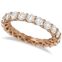 Luxury Diamond Eternity Anniversary Ring Band 14k Rose Gold (3.50ct) #20877v3