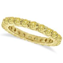 Fancy Yellow Diamond Eternity Ring Anniversary Band 14k Gold (1.07ct) #20664v3