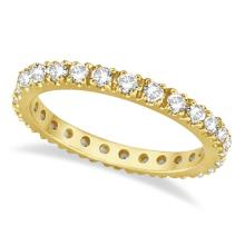 Diamond Eternity Stackable Ring Wedding Band 14K Yellow Gold (0.51ct) #20674v3