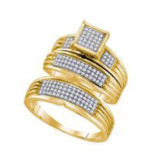 925 Sterling Silver Yellow 0.41CTW DIAMOND FASHION TRIO SET #58307v2